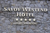Savoy Westend Hotel sign — Stock Photo