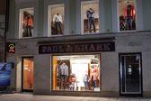 Paul & Shark store in Karlovy Vary at night — Stock Photo