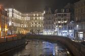 Karlovy Vary Grandhotel Pupp at night — Stock Photo