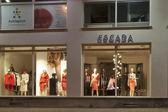 Escada store in Karlovy Vary at night — Stock Photo