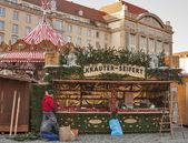 Christmas preparation in Dresden — Stock Photo