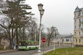 Public transport in Marianske Lazne — Stock Photo