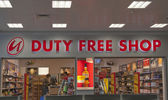 Duty Free Shop in Prague Airport — Stock Photo