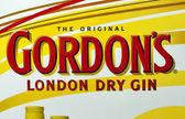 Gordon's London Dry Gin label — Zdjęcie stockowe