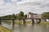 Uzhhorod bridge — Stock Photo