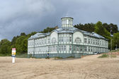 Jurmala bath house — Stock Photo