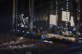 Red Hot Chili Peppers rock band performance in Kiev — Stock Photo