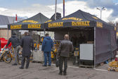 DeWalt American company outdoor booth — Stock Photo