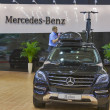 Mercedes-Benz car model on display — Stock Photo