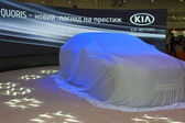 KIA Quoris new car model before start of presentation — Stock Photo