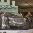 Hyundai SantaFe Grand car model presentation — Stock Photo
