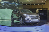 Hyundai SantaFe Grand car model presentation — Stock Photo