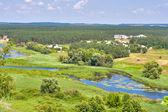 River Ros summer landscape, Ukraine — Stock Photo
