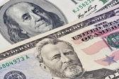 在美元钞票上的美国总统肖像 — 图库照片