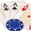 Gambling items isolated on white — Stock Photo