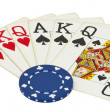 Stock Photo: Gambling items isolated on white