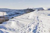 Winter road to Orhei Vechi monastery. Moldova — Stock Photo