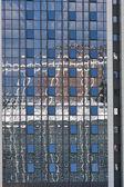 Modern geometric glass architecture background — Stock Photo