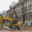 Stock Photo: Major street repairing in Lviv