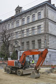 Major street repairing in Lviv — 图库照片