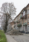 Major paving stone.street repair in Lviv — Stock fotografie