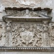 Ancient bas-relief on the wall of Olesko castle — Stock Photo