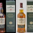 Stock Photo: Glenlivet single malt Scotch whisky 15 years of age against white and black