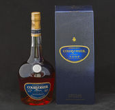 Courvoisier VSOP Cognac bottle and box — Stock Photo
