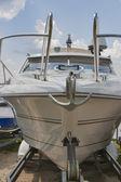 Luxury yacht closeup — Стоковое фото