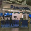 Panasonic TV equipment booth — Stock Photo