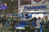 Panasonic tv zařízení booth — Stock fotografie