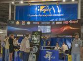 Thorsat Tv-satellit leverantör företaget monter — Stockfoto