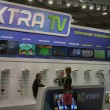 Stock Photo: XTRTV satellite provider company booth