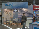 Travel Channel booth — Stock Photo