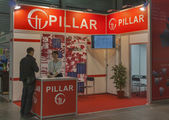 Pillar Ukrainian company booth — Stock Photo