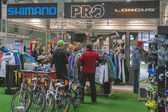 Bike trade show Velobike in Kiev, Ukraine — Stock Photo