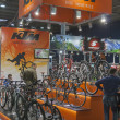 ������, ������: KTM booth at bike trade show