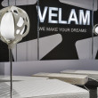 Stock Photo: Velam furniture company booth