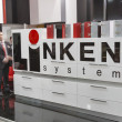 Linken system furniture accessories company booth — Stock Photo