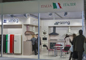 Smeg Italian home appliance manufacturer booth — Stock Photo