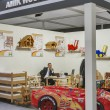 Amik Woodman furniture producer booth — Stock Photo