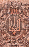Coat of arms of Ukraine macro — Photo