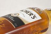 Teacher's Scotch Whisky Flasche Makro — Stockfoto