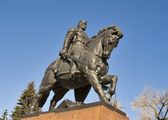 Monument to Danylo of Halych, in Ternopil — Stock Photo