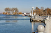 Ternopil waterfront at spring — Stock Photo