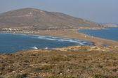 Paradise for surfers, Prassonissi cape — Stock Photo