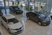 Skoda car salon — Stock Photo