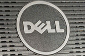 Dell logo closeup — Stock Photo