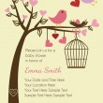 Bird Card Template or Background — Stock Vector #23238548