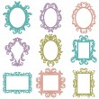 Vector Set of Baroque Frame Silhouettes — Stock Vector #23239854
